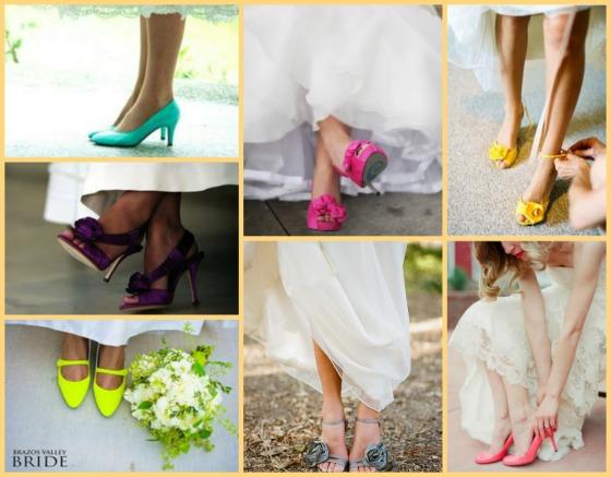 Coloured Bride Shoes