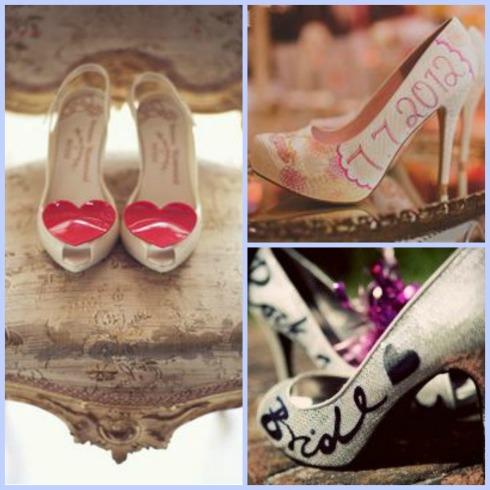 Written Bride Shoes
